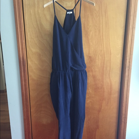 aa3b4f85edce Joie Pants - Joie Siet silk jumpsuit -navy blue